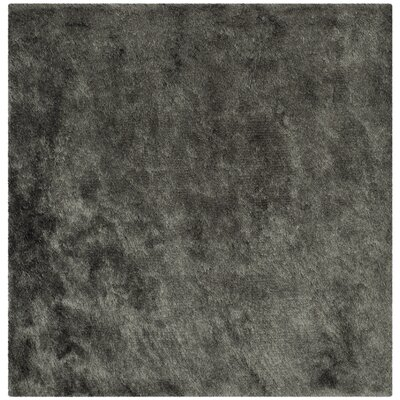 Montpelier Hand-Tufted/Hand-Hooked Titanium Area Rug Rug Size: Square 5