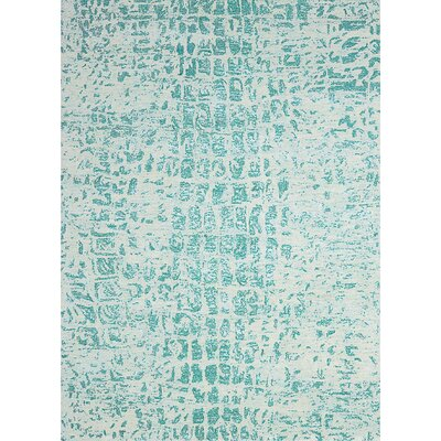 Cherina Hand-Tufted Jade/White Area Rug Rug Size: Rectangle 56 x 75