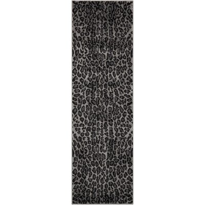 Colletta Charcoal Area Rug Rug Size: Runner 22 x 73