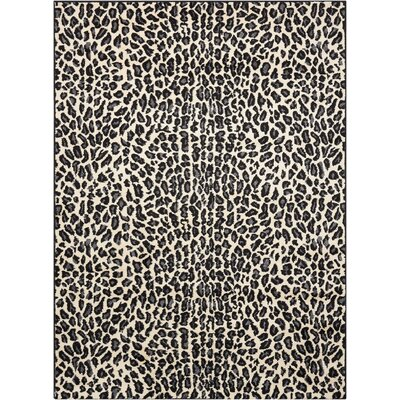 Colletta Ivory/Black Area Rug Rug Size: Rectangle 53 x 73