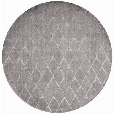 Zoey Gray Area Rug Rug Size: Round 8 x 8
