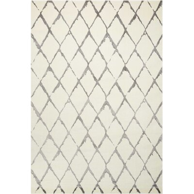 Charmine Ivory Area Rug Rug Size: Rectangle 5'6