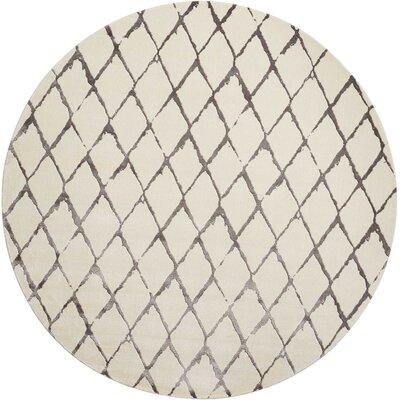 Charmine Ivory Area Rug Rug Size: Round 8 x 8