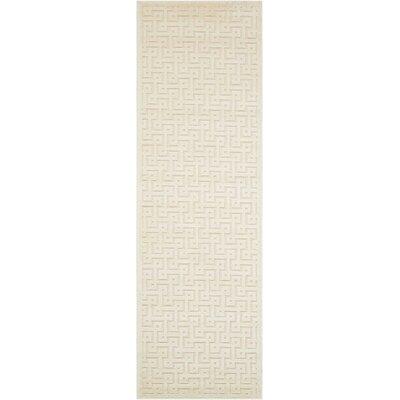 Blondelle Ivory Area Rug Rug Size: Runner 22 x 7
