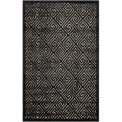 Blondelle Black Area Rug Rug Size: Rectangle 26 x 4
