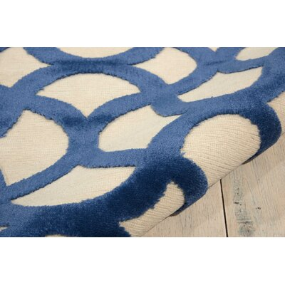 Stanhope Ivory/Blue Area Rug Rug Size: Rectangle 36 x 56