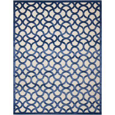 Stanhope Ivory/Blue Area Rug Rug Size: Rectangle 76 x 96