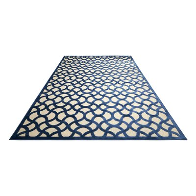 Stanhope Ivory/Blue Area Rug Rug Size: Rectangle 79 x 1010