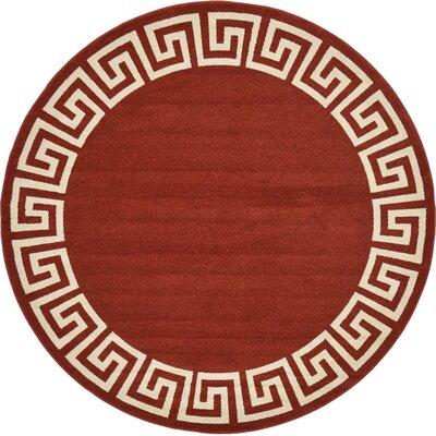 Cendrillon Terracotta Area Rug Rug Size: Rectangle 8 x 8