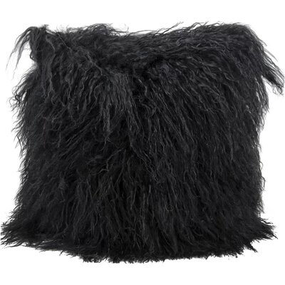 Springport Fur Throw Pillow Color: Black