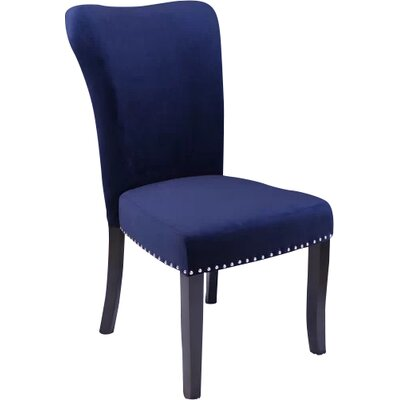Kaat Velvet Dining Side Chair Upholstery: Ink Navy