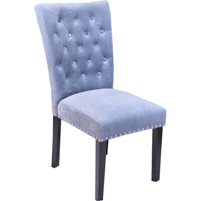 Erling Velvet Side Chair Upholstery: Sharkfin Gray