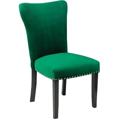 Kaat Velvet Dining Side Chair Upholstery: Emerald Green Velvet