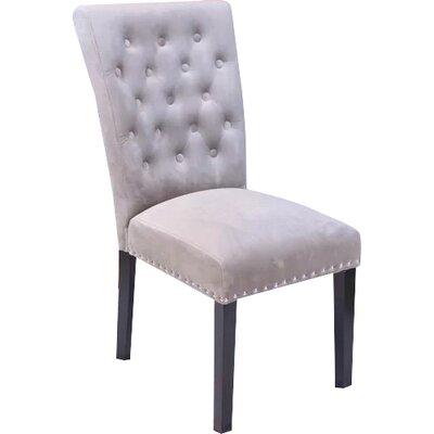Erling Velvet Side Chair Upholstery: Taupe