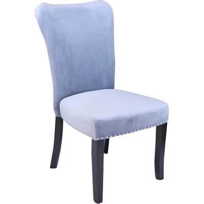 Kaat Velvet Dining Side Chair Upholstery: Sharkfin Gray
