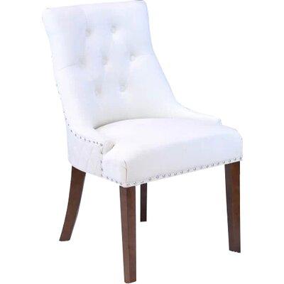 Bernyce Velvet Parsons Upholstered Dining Chair Upholstery: White Velvet