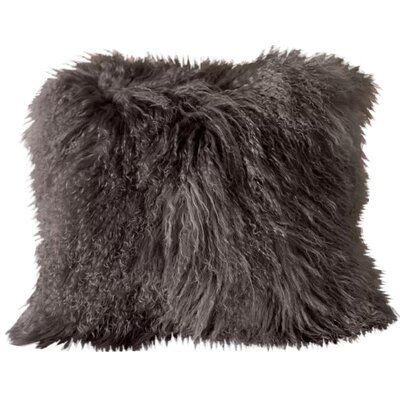 Burel Sheepskin Throw Pillow Color: Silver Grey