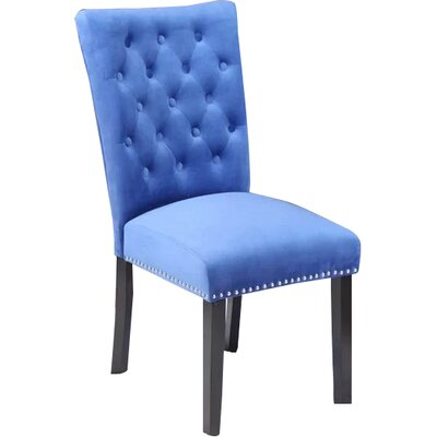 Erling Velvet Side Chair Upholstery: Sky Blue Velvet