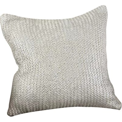 Hiran Knitted Cotton Throw Pillow Color: Ivory
