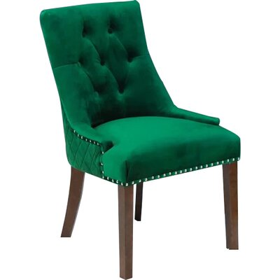 Bernyce Velvet Parsons Upholstered Dining Chair Upholstery: Emerald Green Velvet