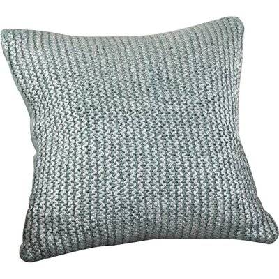 Hiran Knitted Cotton Throw Pillow Color: Aqua