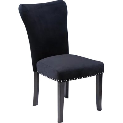 Kaat Velvet Dining Side Chair Upholstery: Black Velvet