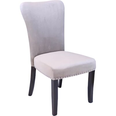 Kaat Velvet Dining Side Chair Upholstery: Taupe