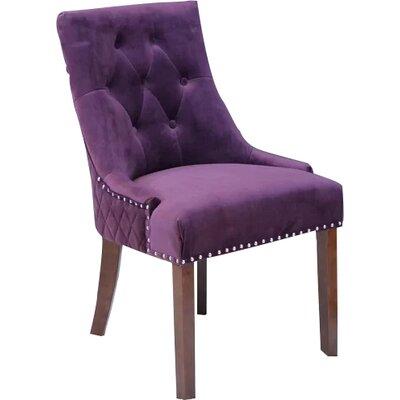 Bernyce Velvet Parsons Upholstered Dining Chair Upholstery: Plum Wine Velvet