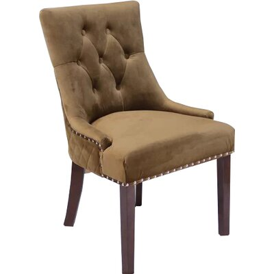 Bernyce Velvet Parsons Upholstered Dining Chair Upholstery: Brown Sugar