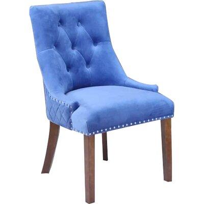 Bernyce Velvet Parsons Upholstered Dining Chair Upholstery: Sky Blue Velvet