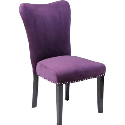 Kaat Velvet Dining Side Chair Upholstery: Plum Wine Velvet