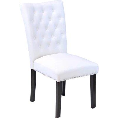 Erling Velvet Side Chair Upholstery: White Velvet