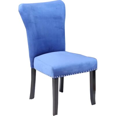 Kaat Velvet Dining Side Chair Upholstery: Sky Blue Velvet