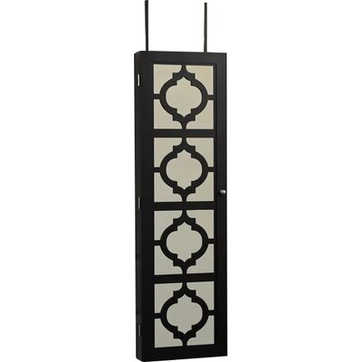 Harlesden Wall Mounted Jewelry Armoire with Mirror Color: Black