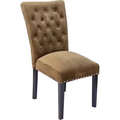 Erling Velvet Side Chair Upholstery: Brown Sugar