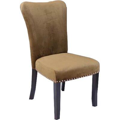 Kaat Velvet Dining Side Chair Upholstery: Brown Sugar