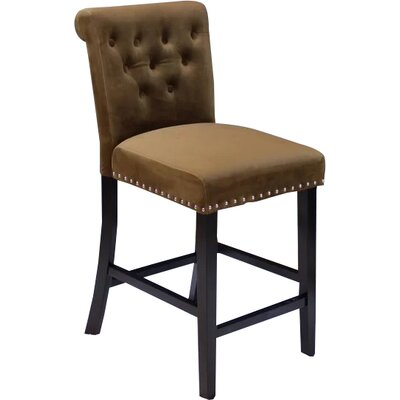 Erling Velvet Counter 26 Bar Stool Upholstery: Brown Sugar