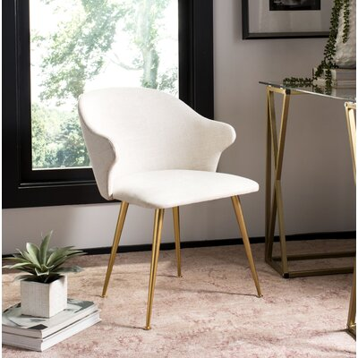 Eamon Linen Blend Upholstered Side Chair Upholstery Color: Cream