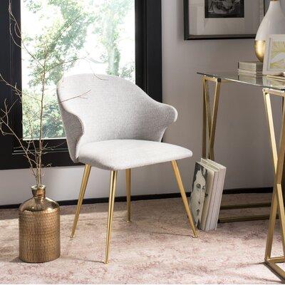 Eamon Linen Blend Upholstered Side Chair Upholstery Color: Light Grey