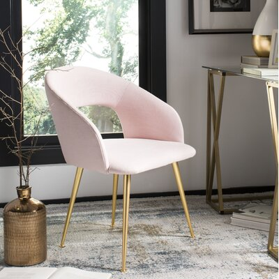 Maen Linen Blend Upholstered Side Chair Upholstery Color: Light Pink
