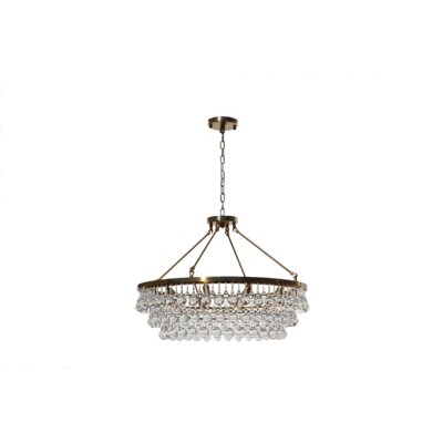 Sheneka 10-Light Crystal Chandelier Finish: Brass