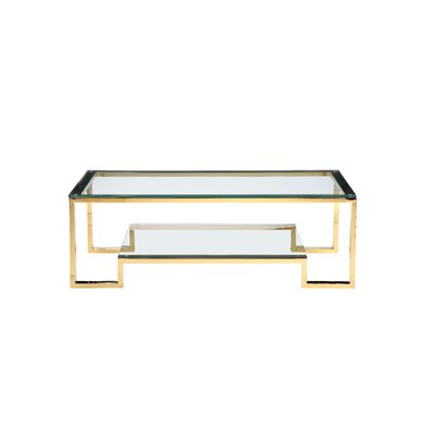 Ellesmere Coffee Table Size: 18 H x 54 W x 28 D, Color: High Polish Gold