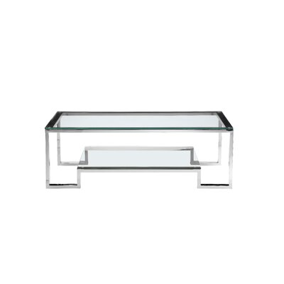 Ellesmere Coffee Table Size: 18 H x 50 W x 36 D, Color: High Polish Steel