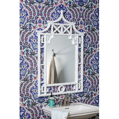 Lacey Crowned Bathroom/Vanity Mirror Finish: Glossy White