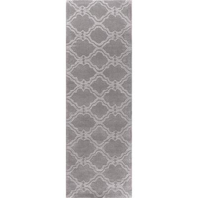 Cherelle Hand-Woven Gray Area Rug Rug Size: Runner 2'6