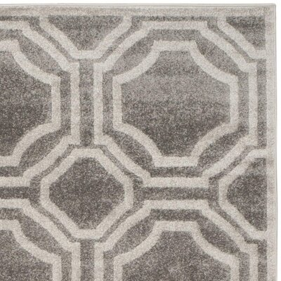 Maritza Grey & Light Grey Indoor/Outdoor Area Rug Rug Size: Rectangle 8 x 10