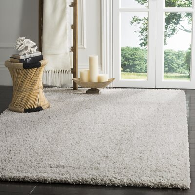 Otley White/Light Gray Area Rug Rug Size: Rectangle 96 x 13