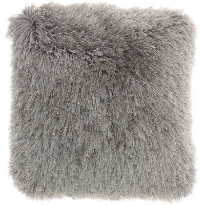 Bowyer Shag Throw Pillow Color: Charcoal
