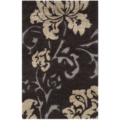 Marybell Dark Brown Area Rug Rug Size: Rectangle 33 x 53