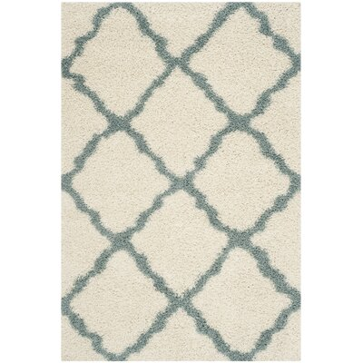 Charmain Ivory/Light Blue Area Rug Rug Size: Rectangle 51 x 76